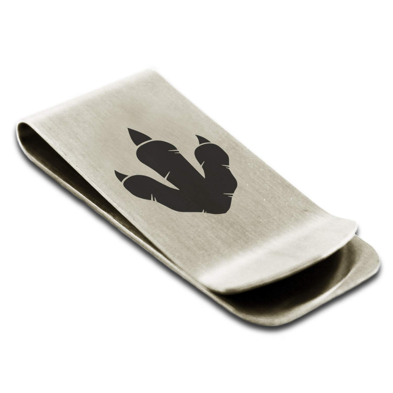 Stainless Steel Tyrannosaurus Rex Footprint Money Clip Credit Card Holder