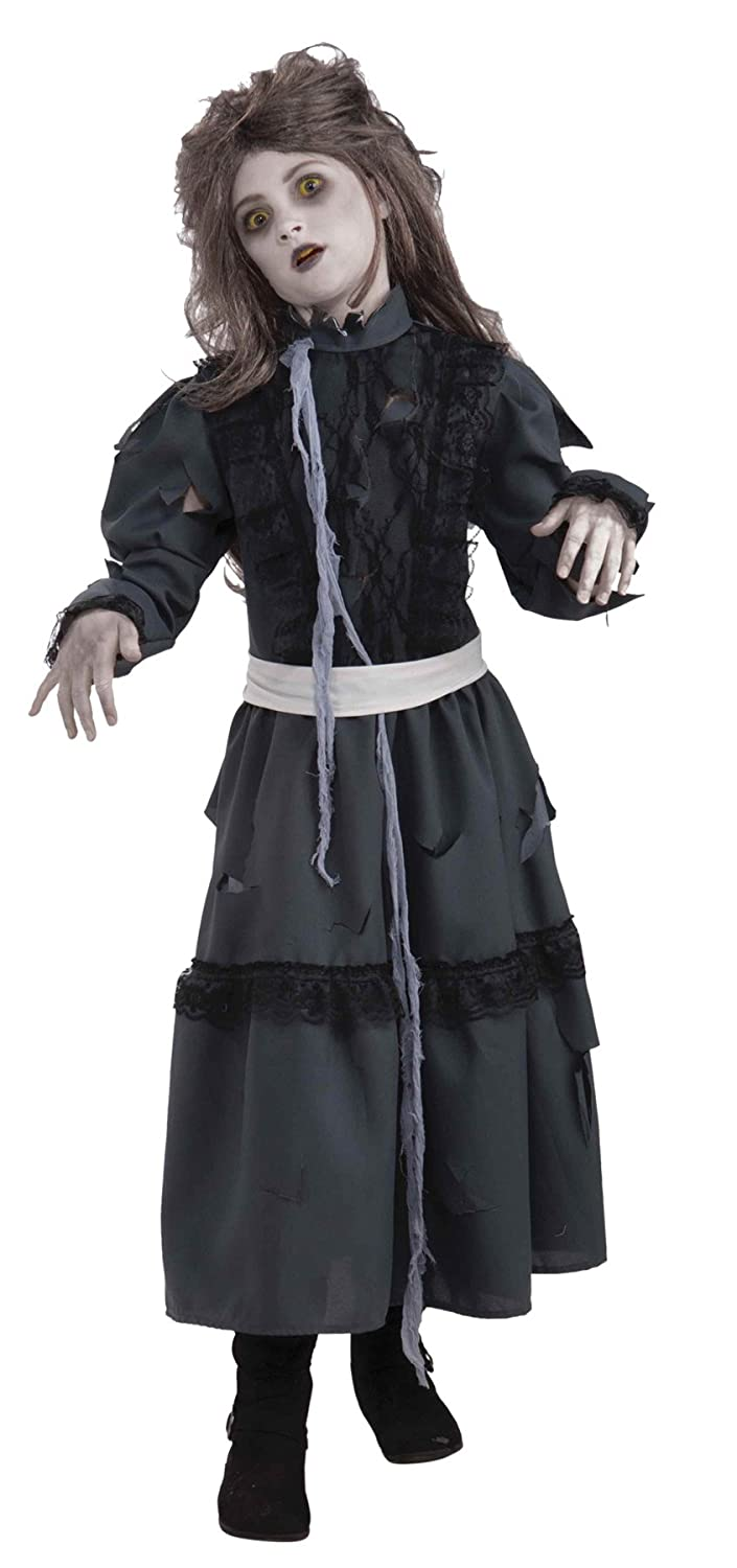 Zombie Coat Grey Gray Tattered Fancy Dress Up Halloween Adult Costume Accessory