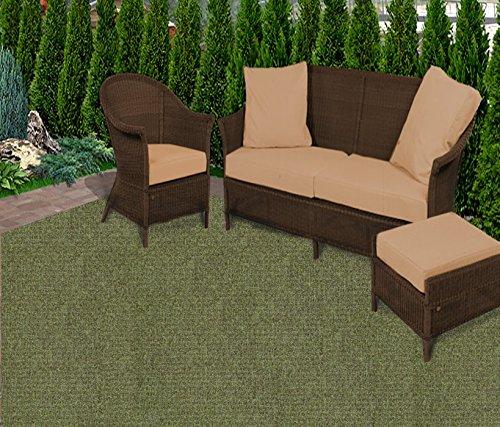 9\'x12\' Weathered Teak Casual Boucle Level Loop 20 oz Olefin Indoor-Outdoor  Area Rug Carpet