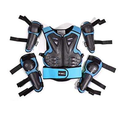 Kids Motorcycle Riding Protective Gear Armor Suit for Motocross Cycling Skiing Skateboarding Roller Skating (Blue): Automotive