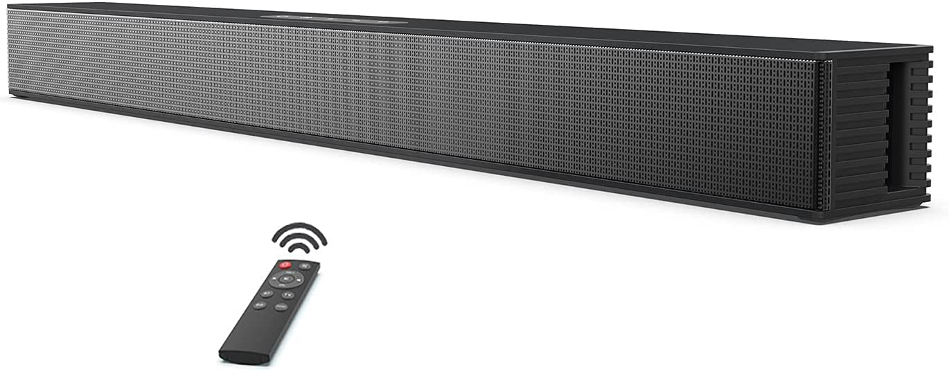Soundbar for TV with Built-in Subwoofer - Home Theater Surround Sound Speaker System, Sound Bar with Bluetooth 5.0, Support HDMI, USB, Optical, AUX Connection, Wall Mountable