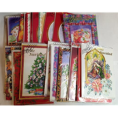 Musical christmas cards amazon 25 pcs assorted musical christmas card in spanish m4hsunfo