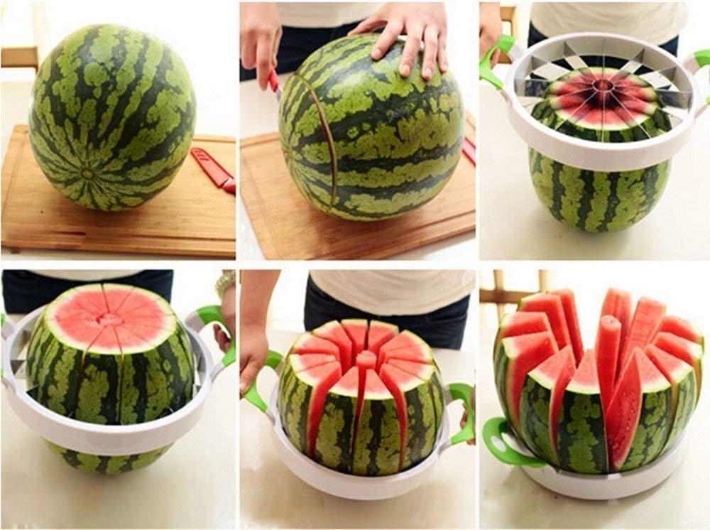 Watermelon Slicer Large Stainless Steel Fruit Cutter Kitchen Utensils Gadgets Large Melon Slicer by NEX (Image #3)