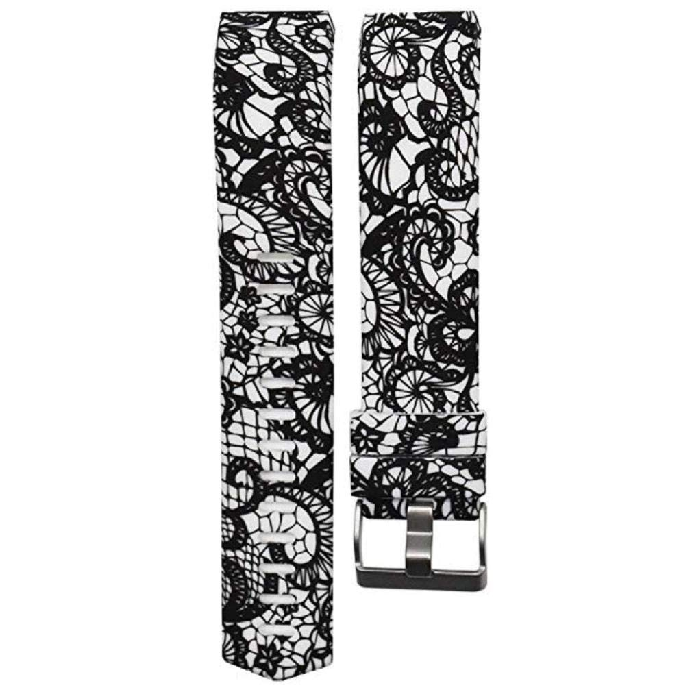 Fashion Clearance! Noopvan for Fitbit Charge 2 Straps Replacement Bands Adjustable Accessory Wristbands for Fitbit Charge 2 Large Small Variety of Colors Patterns (H)