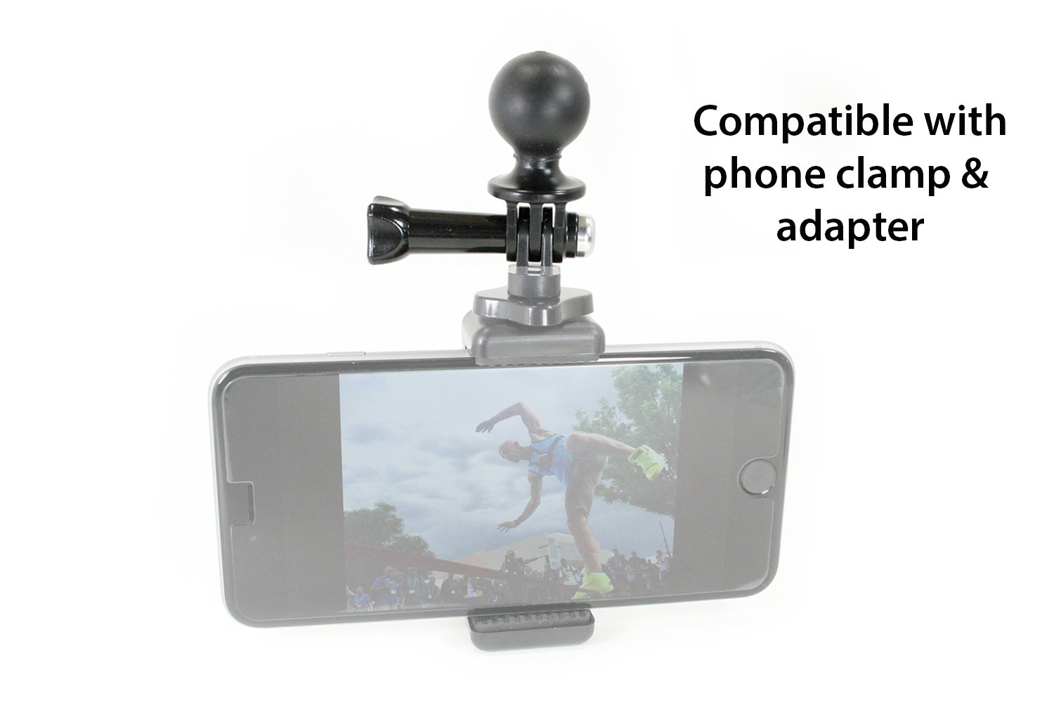 GoPro Adapter w/1'' Ball for RAM Mounts - Universal Conversion Adapter | This Vertical Adapter Allows You to Use GoPro or Action Mount with any RAM Style Mount.