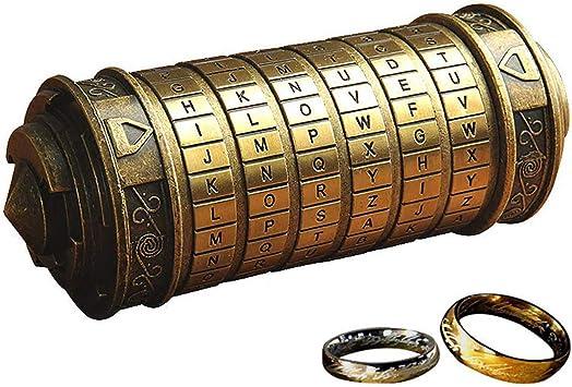 wyhweilong Retro Da Vinci 3D Cryptex Code Lock Cajas ...