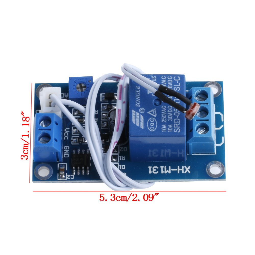 Wrisky DC 5V XH-M131 Light Control Switch Photoresistor Relay Module on