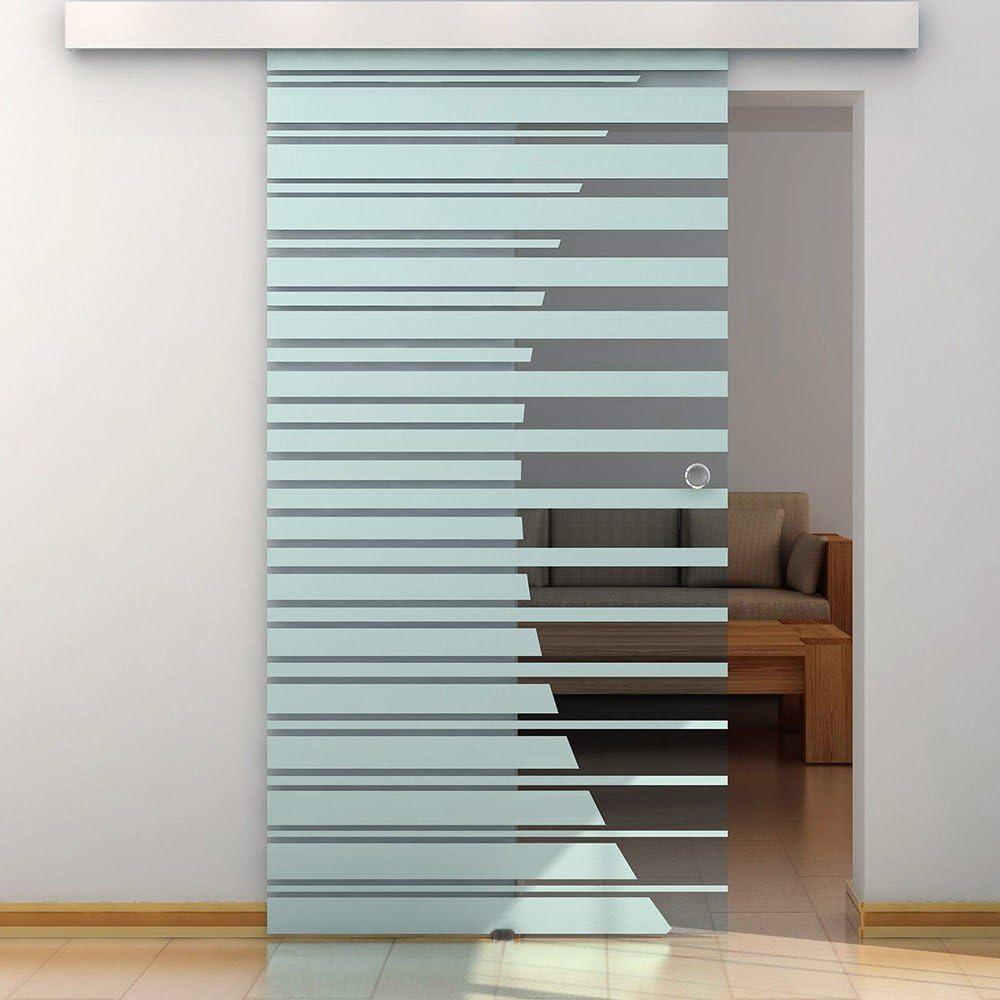 Puerta corredera para puertas de cristal Correderas de cristal para puerta de 105 cm con diseño de concha de mango: Amazon.es: Hogar