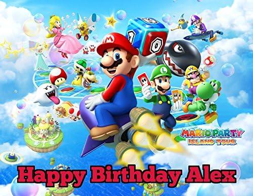 Amazon.com: Super Mario imagen Comestible Hoja de decoración ...