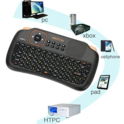 0222ec1aa99 Amazon.in: Buy Generic Viboton S1 English/Russian 3-in-1 2.4GHz Wireless  Keyboard Gaming + Air Mouse + Remote Control with Touchpad for Windows  Linux Online ...