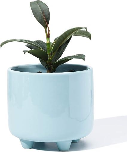 black coffee footed planter drainage mother/'s day gift mini planter brown legged teeth planter black ceramic foot planter pot