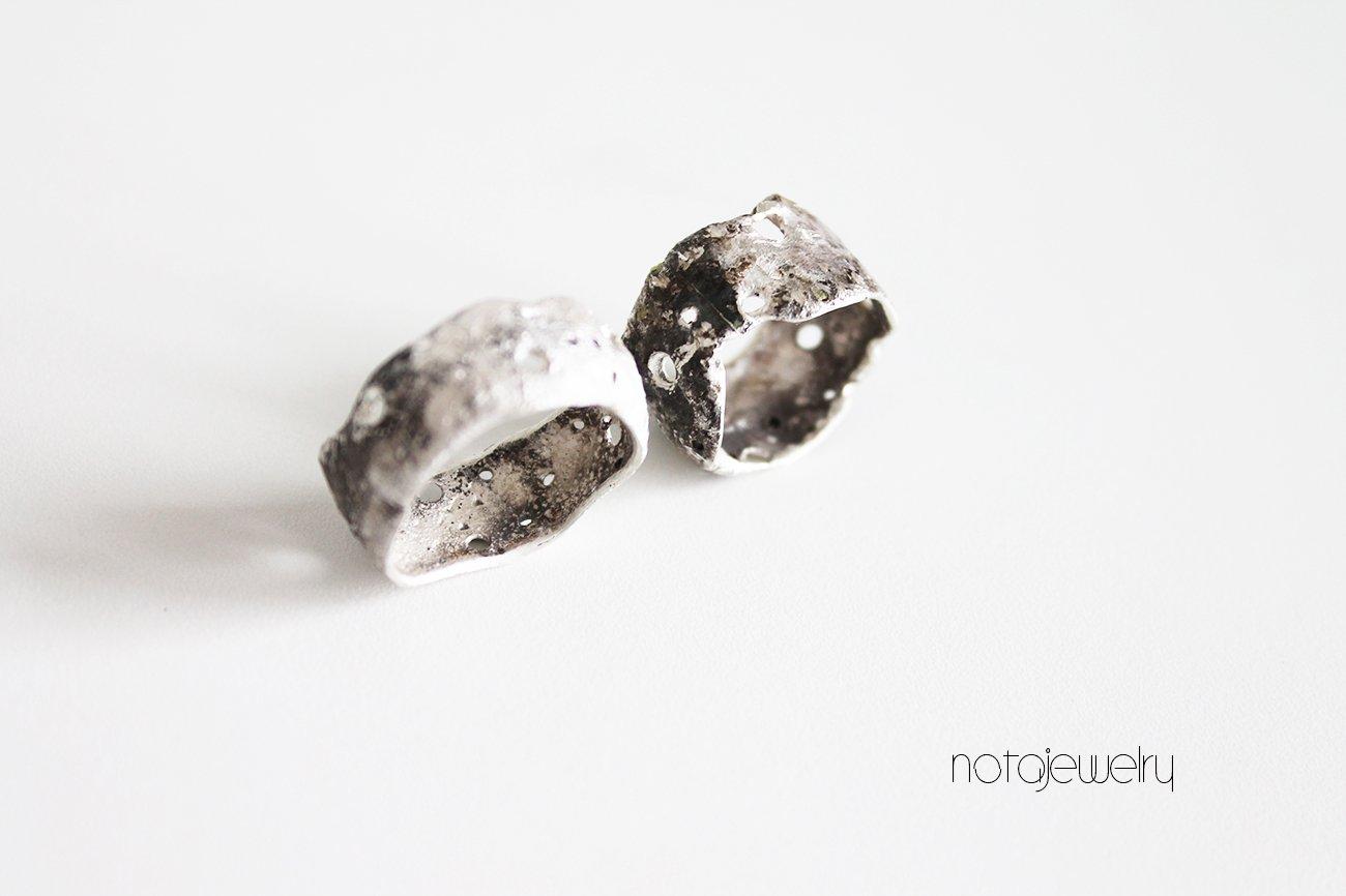 Artisan Ring Extra Wide Sterling Silver Savoy Ring Organic Silver Ring Silver Ring Silver Statement Ring Modern Silver Ring