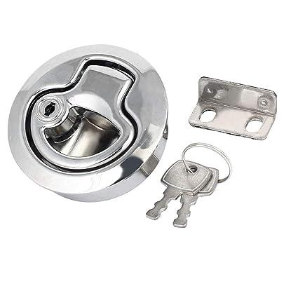 Aleación de zinc de forma redonda tirador a ras de seguridad Cerradura de bloqueo de trabilla