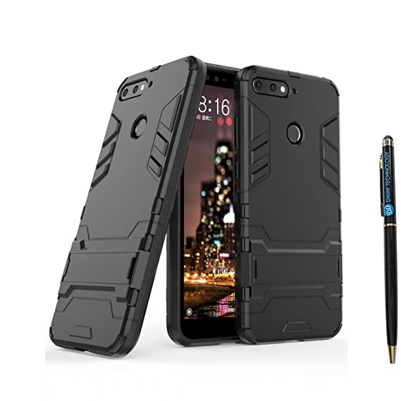 brand new ddd5c bc6c6 Amazon.com: HUAWEI Y6 2018 Armor Case DWaybox 2 in 1 Hybrid Heavy ...