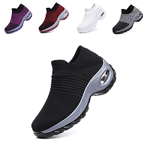 629f29261c7f9 LIN&LE Women's Walking Shoes Sock Sneakers - Mesh Slip On Air Cushion Lady  Girls Modern Jazz Dance Easy Shoes Platform Loafers