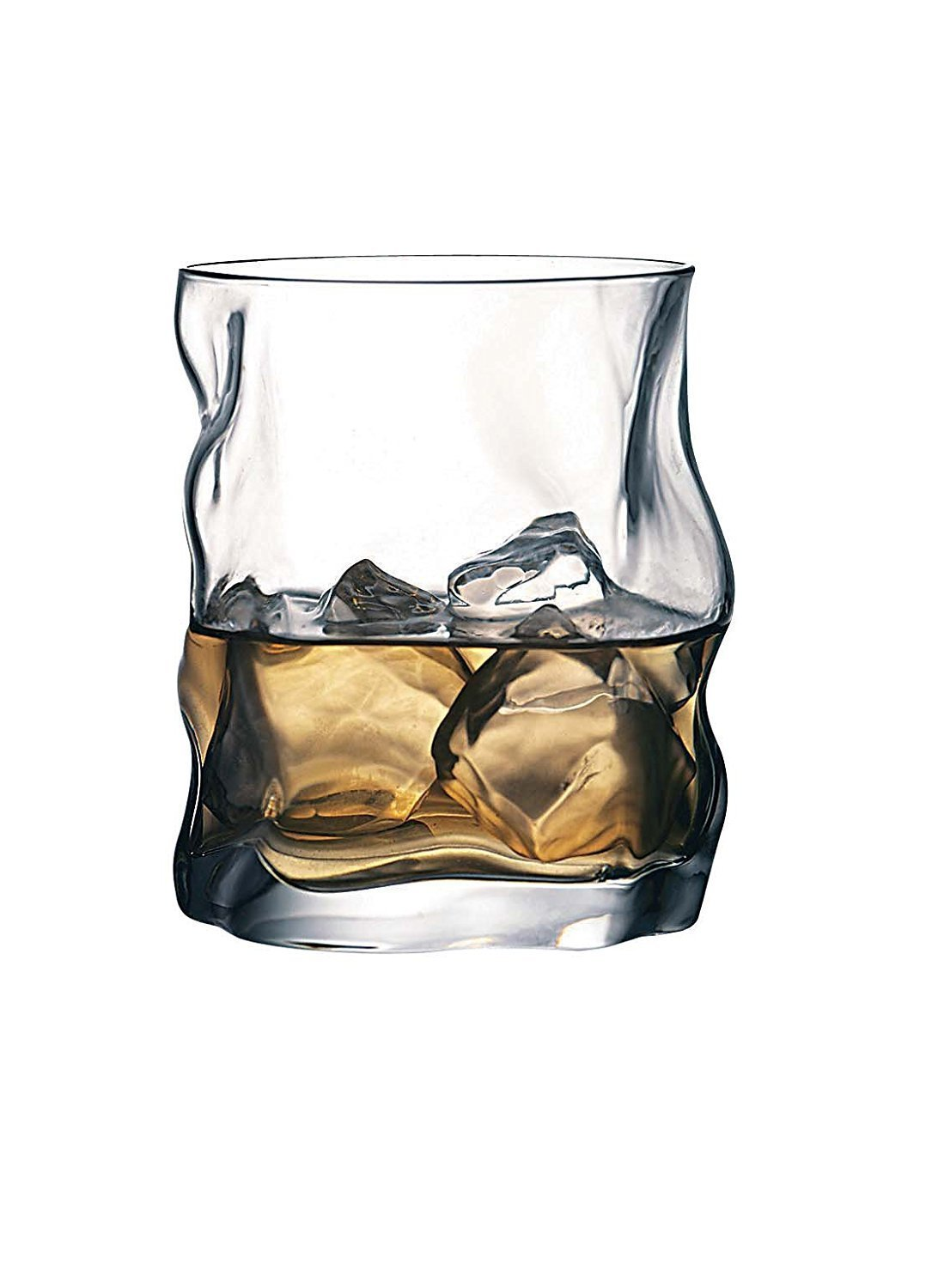 Bormioli Rocco Sorgente Whisky Glasses Set of 2 420ml Unique Design EASYGIFT 3.40350
