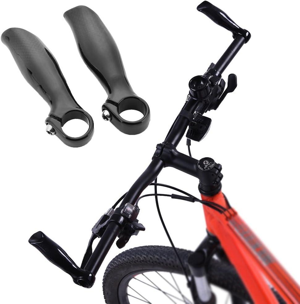 1Par Acoples Manillares de Bicicleta - Puño de Cuernos de Fibra de ...