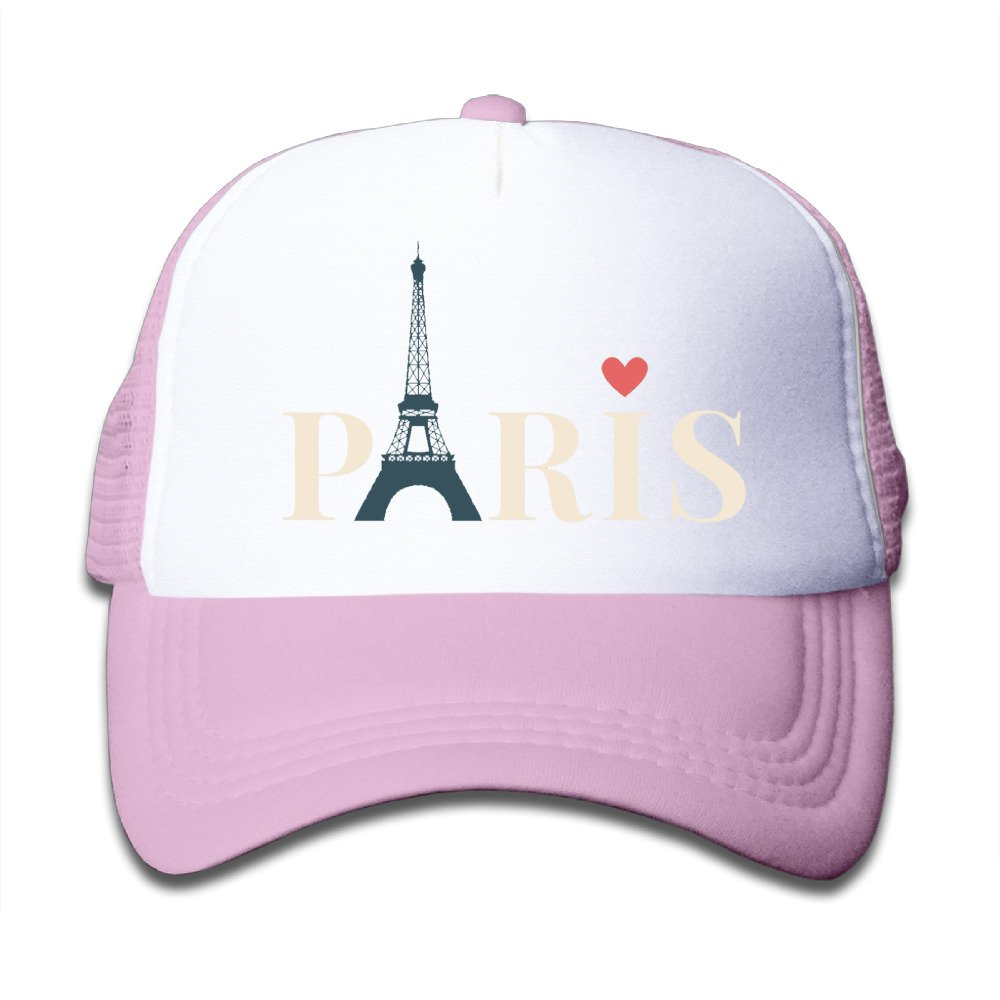 Youth Paris Cute Adjustable Baseball Caps For Girls One Size