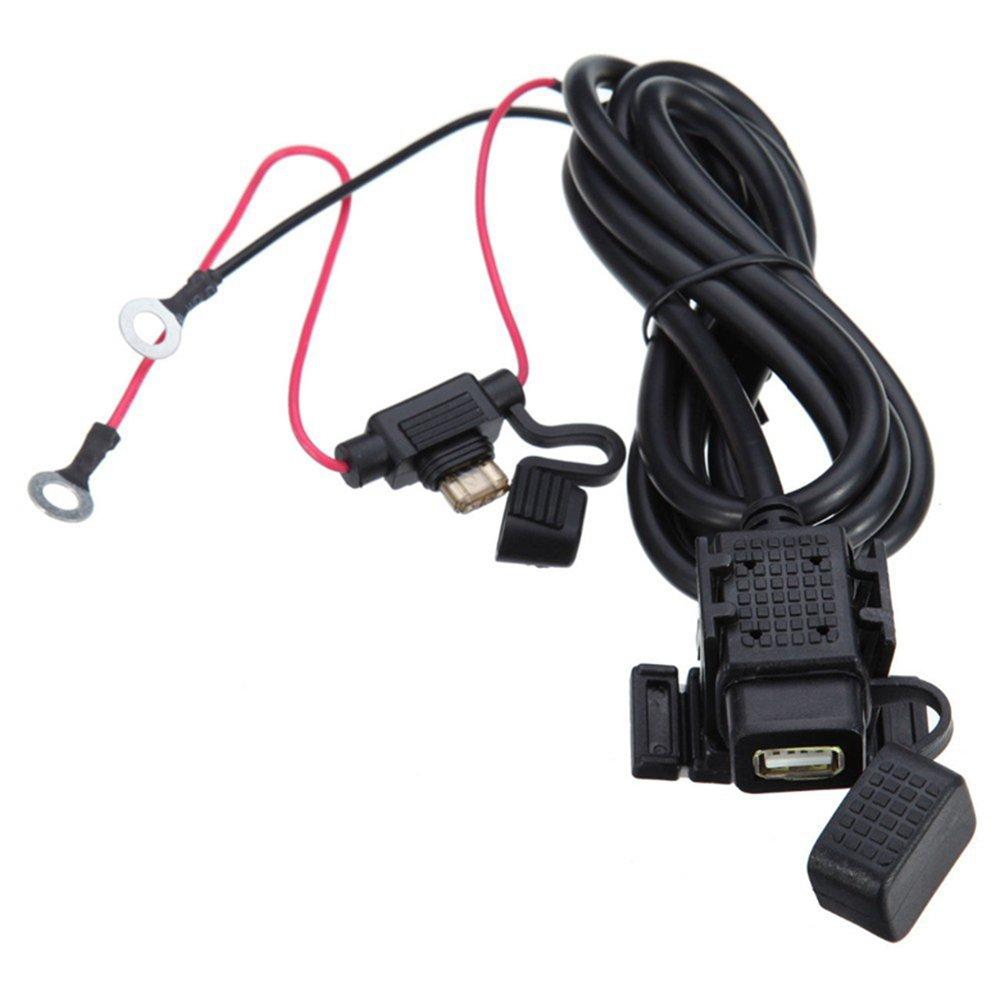 meipire 12 –  24 V DC Moto 2.1 A USB Agua Densidad Auto Cargador Telé fono Cargador navegací on dispositivo carga para telé fono celular/navigator/Walkie Talkie
