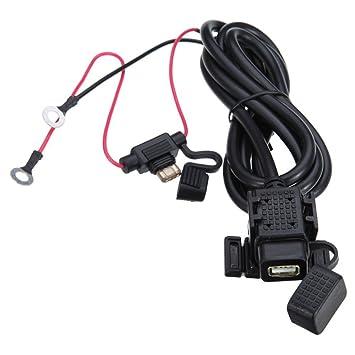 meipire 12 – 24 V DC Moto 2.1 A USB Agua Densidad Auto Cargador Teléfono Cargador navegacíon dispositivo carga para teléfono celular/navigator/Walkie ...