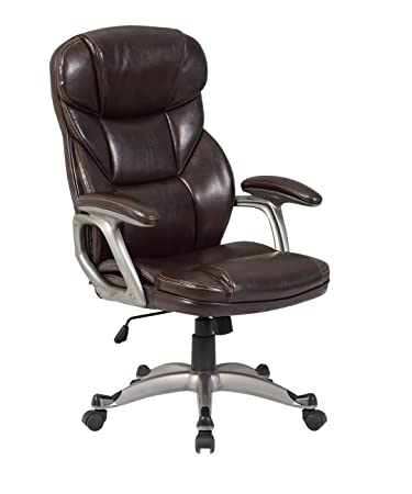 Belleze Executive High Back Office Chair Home Task Ergonomic Computer  Deluxe Desk PU Leather, Mocha