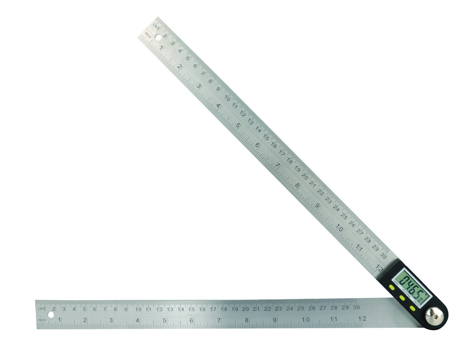 Saili 12 Inches Stainless Steel Digital Angle Ruler Goniometer angle Finder Ruler angle Ruler Definition ruler Angle