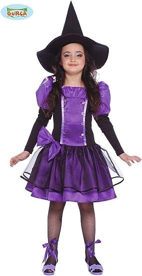 Disfraz de bruja morada para niña - 7-9 años: Amazon.es: Juguetes ...