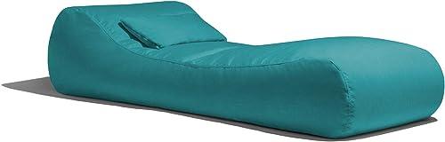 Jaxx Arlo Outdoor Bean Bag Sun Lounger Pool Patio Chaise Recliner Sunbrella, Aruba Turquoise