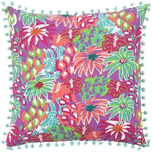 Rizzy Home Floral Decorative Filled Pillow, 18
