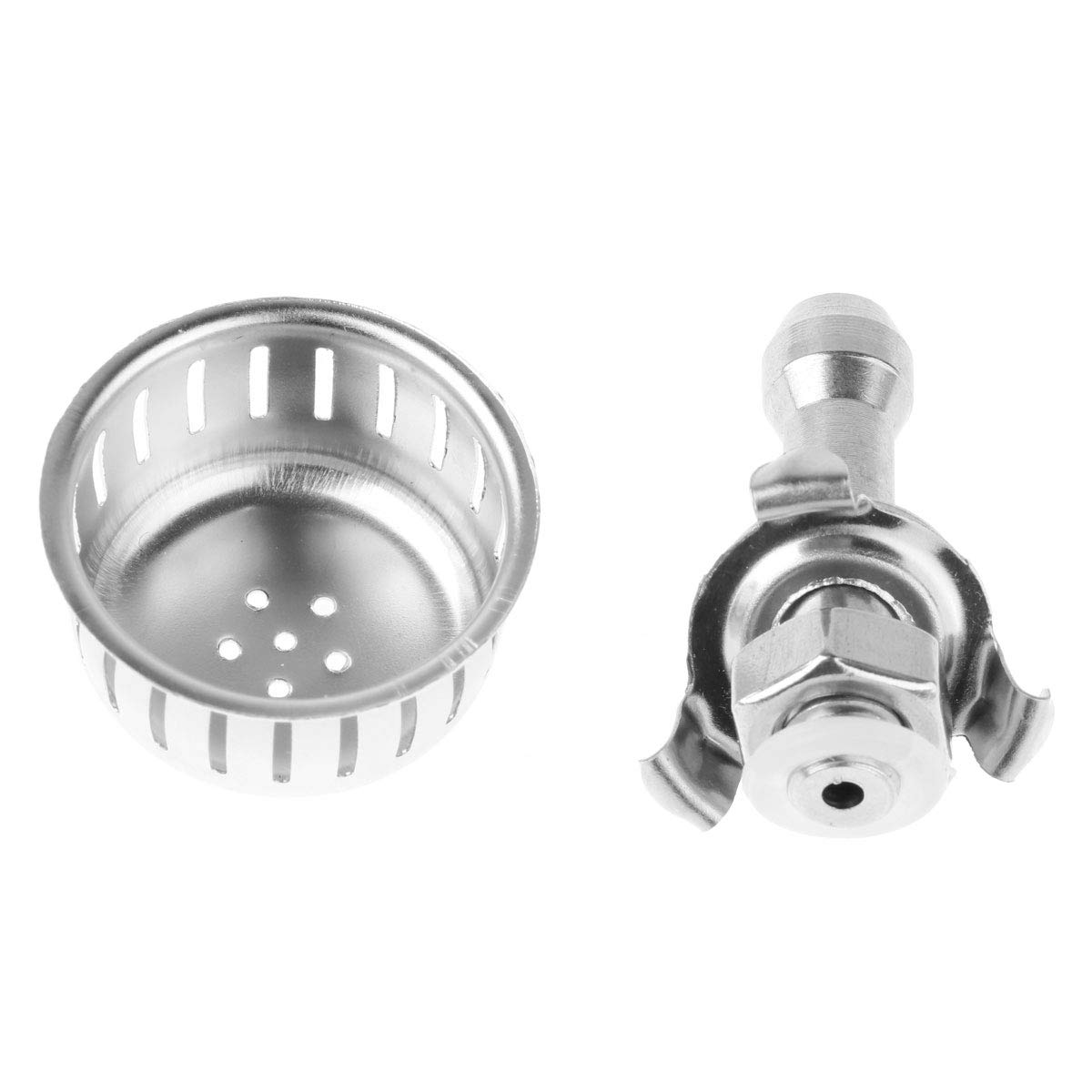 Freebily 2 Sets Universal Kitchen Pressure Cooker Cap Relief Jigger Valve Replacements with Anti Blocking Cover Bracket and Gasket Silver One Size by Freebily (Image #4)
