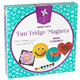 Fridge Magnet Art Activity Set: Make Your Own Self Adhesive Refrigerator & School Locker Magnets - DIY Craft Kit for Kids Birthday Parties & More - Includes Paint, Decorations, Tiles & Magnetic Strips