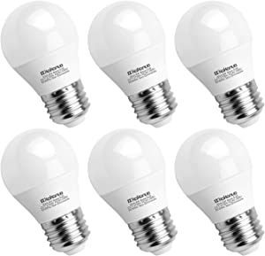 E26 Medium Base A15 LED Bulb 60W Equivalent, Kakanuo 6W Warm White 2700K Light Bulb for Chandelier, Lamp, Refrigerator and Home Lighting, Non-Dimmable - Pack of 6