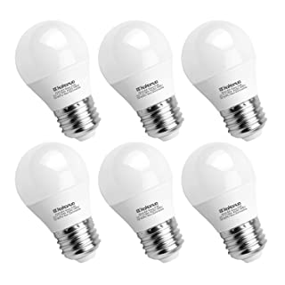 A15 LED Bulb 60 Watt Equivalent, Kakanuo E26 Medium Base Warm White 2700K Appliance Light Bulb, Ceiling Fan Light Bulbs, LED Refrigerator Light Bulbs, Bedroom Light Bulbs, Non-Dimmable, 6 Pack