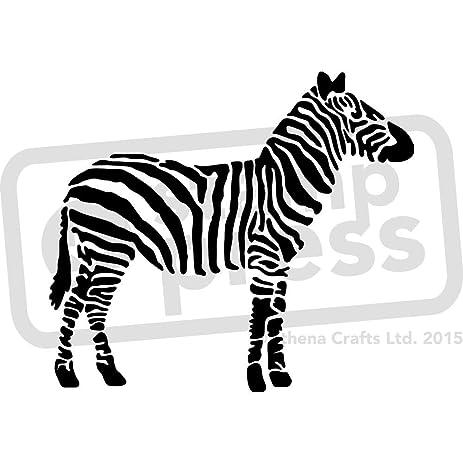 Amazon.com: A4 \'Zebra\' Wall Stencil / Template (WS00006607)
