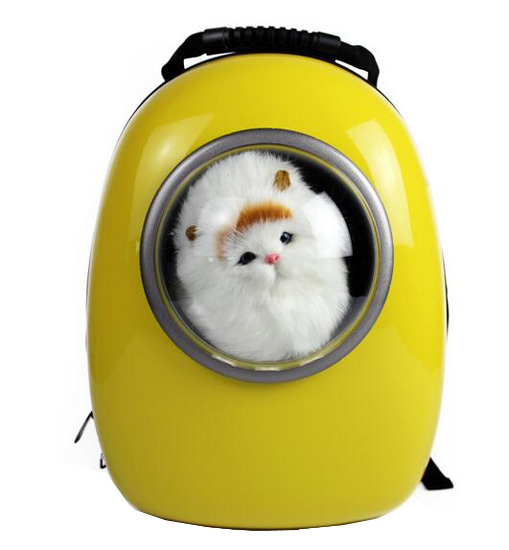 Fashion Shop Innovative Patent Bubble Traveler Pet Carriers for Cats and dogs Both the Meash and Bubble Cover (Yellow)