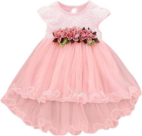 Toddler Baby Kids Girls Summer Floral Dress Princess Party Wedding Tulle Dresses