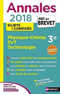 Physique-Chimie, Sciences de la Vie et de la Terre, Technologie 3e :