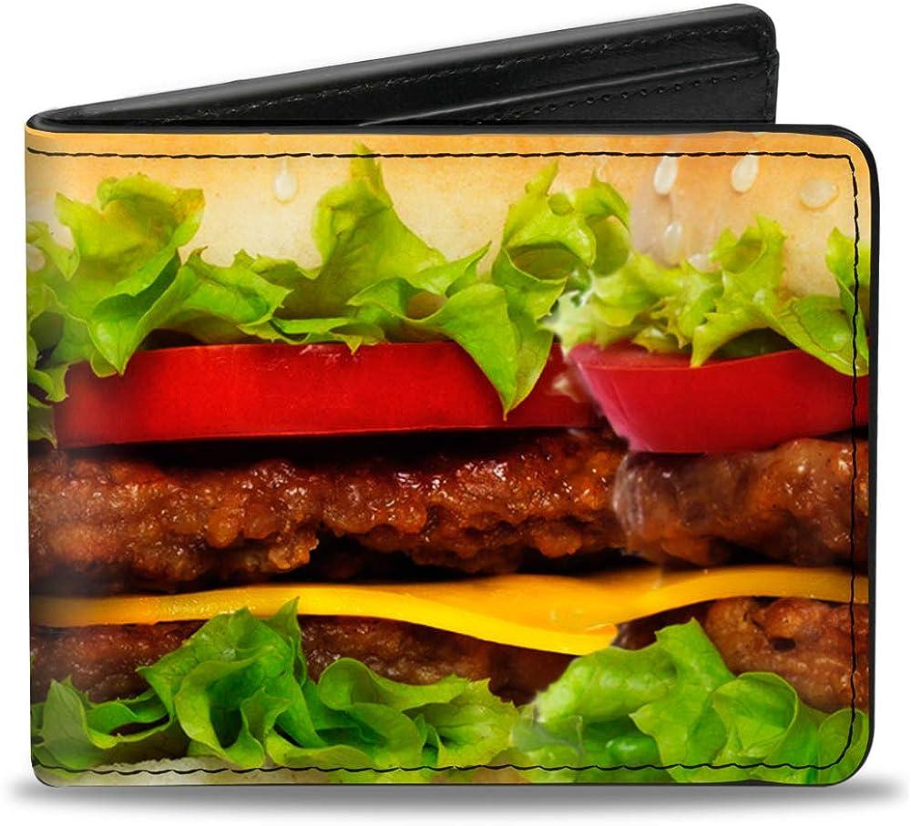 Buckle-Down PU Bifold Wallet - Vivid Cheeseburger