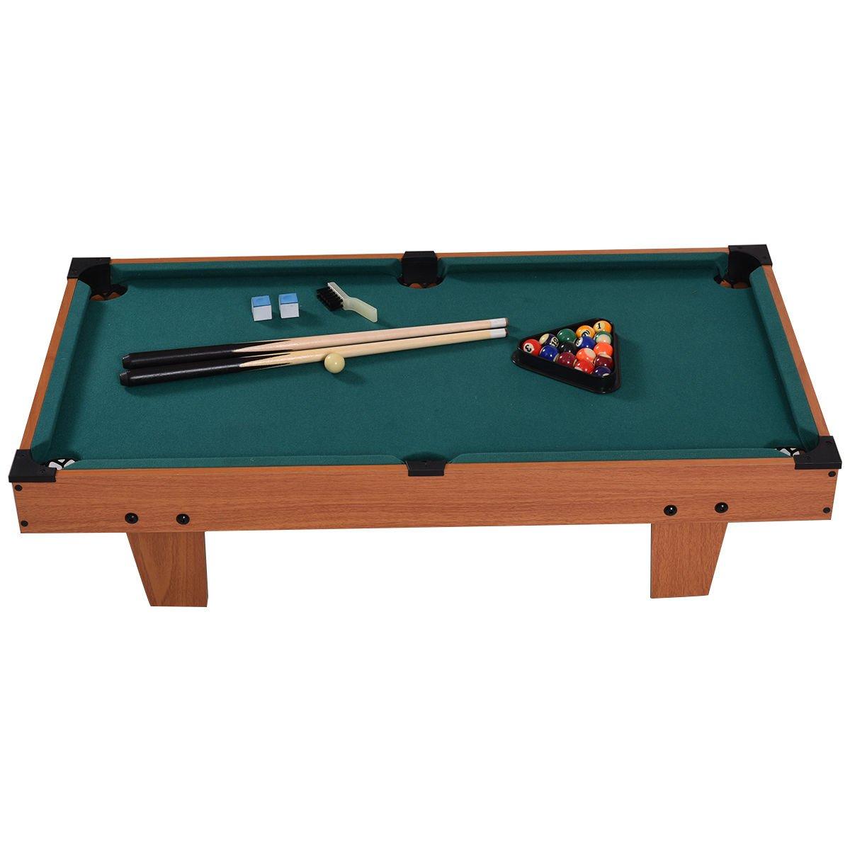 Amazon.com  Goplus Mini Pool Table Tabletop Billiard Game Set w/ Cues Balls 48  and 36  (Green 36 )  Sports u0026 Outdoors  sc 1 st  Amazon.com & Amazon.com : Goplus Mini Pool Table Tabletop Billiard Game Set w ...