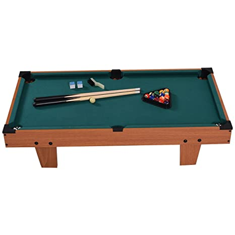 Attirant Goplus Mini Pool Table Tabletop Billiard Game Set W/ Cues Balls 48u0026quot;  And 36u0026quot