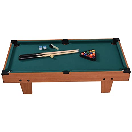 Goplus Mini Pool Table Tabletop Billiard Game Set W/ Cues Balls 48u0026quot;  And 36u0026quot