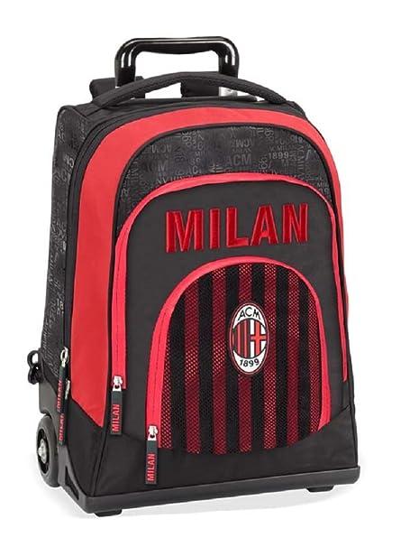Panini 58064 - Mochila con Ruedas AC Milan - Licencia Oficial de 2018: Amazon.es: Equipaje