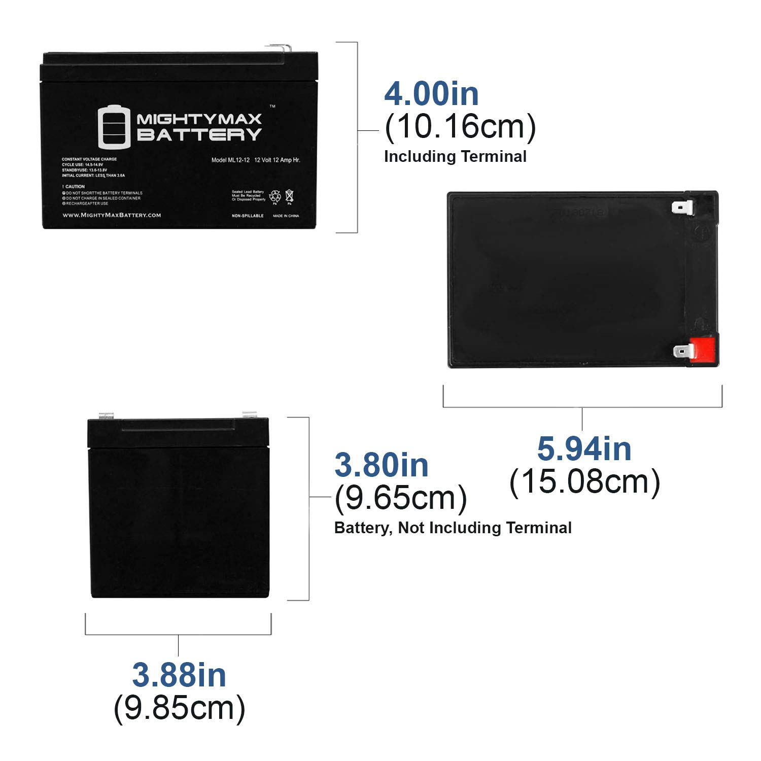 3 Pack Brand Product Mighty Max Battery 12V 12Ah F2 EVO Powerboards EVO800W 800 Watt Scooter Battery