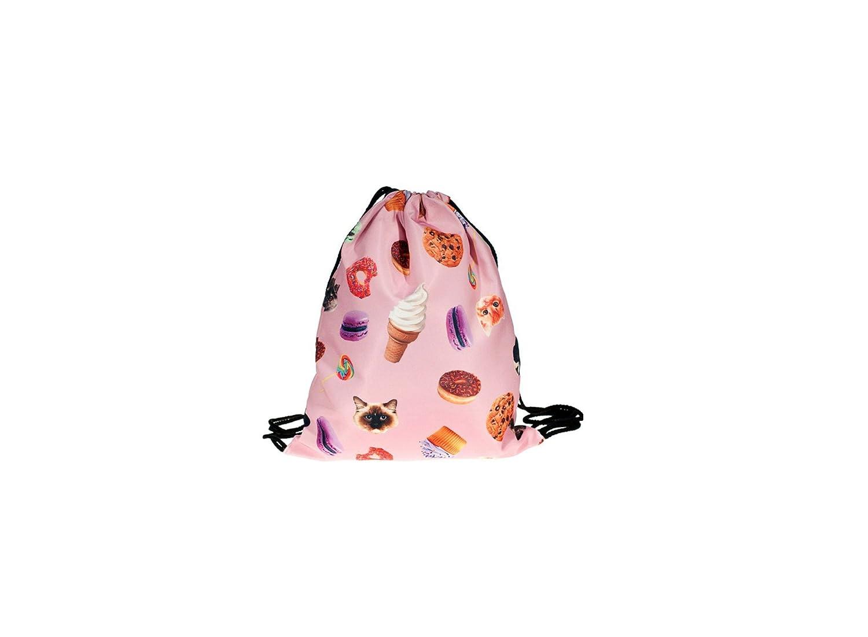 Turnbeutel Tasche Beutel Rucksack Damenrucksack Crazy Donut Rosa