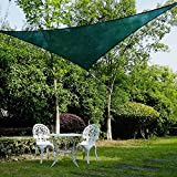 Ollieroo Shade Sail UV Block Fabric Patio Outdoor Canopy Sun Shelter with 5ft PE Ropes and Steel D-rings
