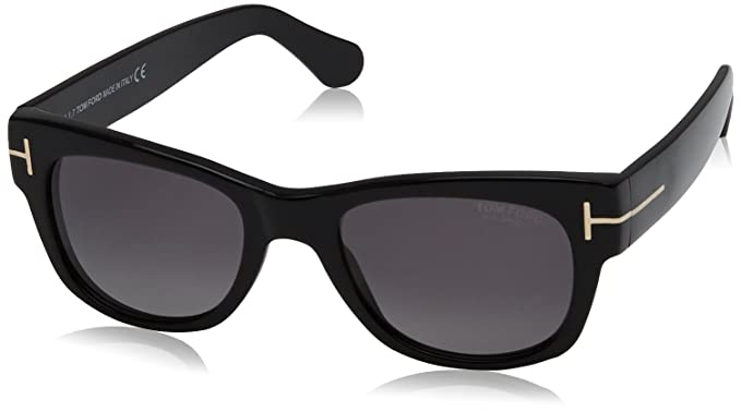 afd973905c5 Tom Ford Unisex-Adult s Polarized FT0058 PAN 01D (52 mm) Sunglasses ...