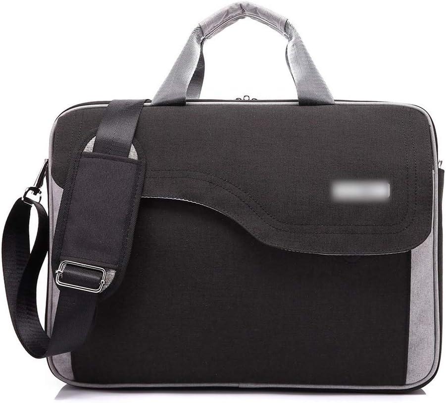 Hemengjuan Computer Shockproof Handbag Color : Black, Size : 17inch Waterproof Business One Shoulder Notebook Bag for 15 17 Inch