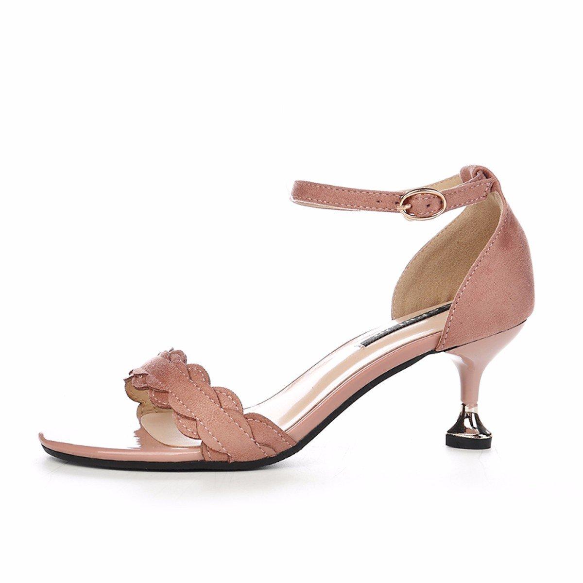 GTVERNH GTVERNH GTVERNH Damenschuhe Weiblich Sommer Nahe Bei 6 cm Hochhackigen Schuhe Dünne Sohle Wild Gürtel Wort Gürtel Cat - Schuhe fbfcac