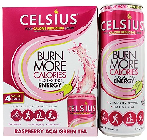 Celsius RTD Green Tea Raspberry, 12 Ounce