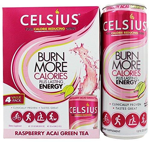 Celsius RTD Green Tea Raspberry, 12 Ounce